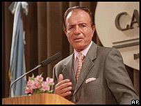 El ex presidente de Argentina, Carlos Menem