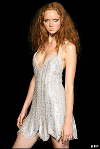 British model Lily Cole, at London Fashion Week