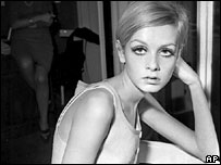 Twiggy, photographed in London, in October 1966
