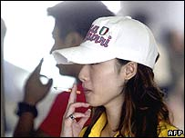 A smoker in Beijing, China