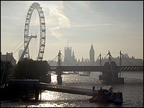 View of London's skyline