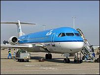 KLM Cityhopper Fokker 100