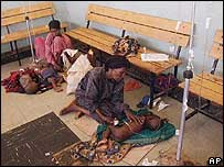 Children in hospital in Ogaden following a cattle failure