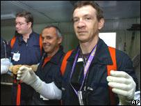 El doctor Martin y su paciente, Philippe Sanchot.