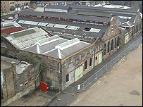 Aerial view of the No 1 Smithery building