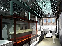 Artist's impression of the Our Maritime World gallery