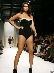 "A ""normal-sized"" model wearing Elena Miro"