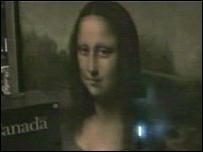 Imagen escaneada de la Mona Lisa.