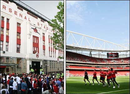 Highbury and the Emirates Stadium