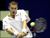 Marat Safin in action in Bangkok