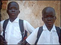 Decu (left) and Kaba ready for school.  Photo: Groupe One