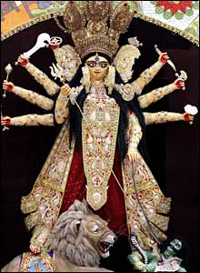 The Durga idol