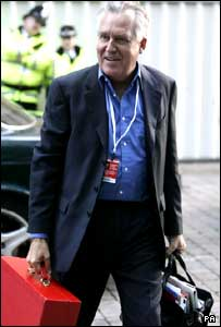 Peter Hain arriving at the Labour Party conference