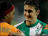 Ronaldinho y Miroslav Klose