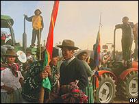 Campesinos bolivianos.