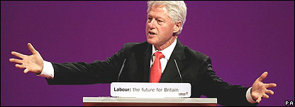 Bill Clinton, Labour conference