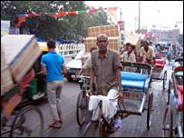 Rickshaws in Delhi