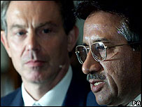 Tony Blair and Gen Musharraf
