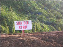 Sub soil strip by pipe