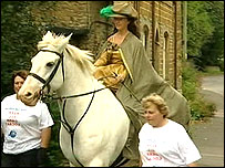 """The """"fine lady"""" on the white horse"""