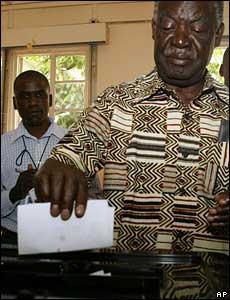 Opposition leader Michael Sata