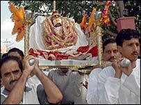 Vimla Devi's funeral