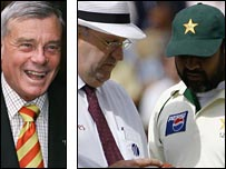 Bird, umpire Darrell Hair and Inzamam-ul-Haq