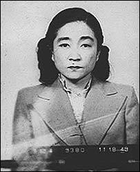 Iva Toguri D'Aquino's police mugshot