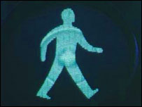 Pedestrian crossing's green man (Image: BBC)