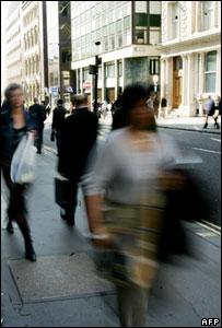 Pedestrians in London (Image: AFP)