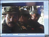 Guerrilleros de las FARC en agosto de 2006
