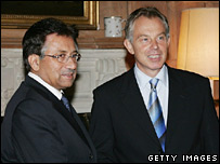 Mr Blair and Gen Musharraf hold talks on 28 September 2006