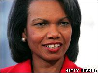 US Secretary of State Condoleezza Rice