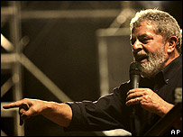 President Lula on the campaign trail