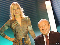 Michelle Dewberry and Sir Alan Sugar