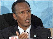 Somalia's interim Prime Minister Ali Mohamed Ghedi