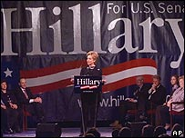 Hillary Clinton announces her candidacy for the US Senate on 6 February 2000