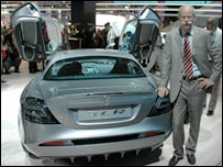 Mr Zetsche with new Mercedes model
