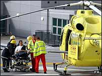 Image of Mr Hammond and the air ambulance