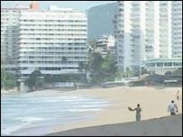 A beach in Acapulco