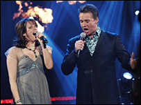 Sian Reeves and Russell Watson