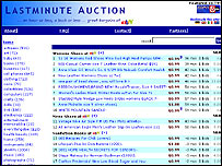 Lastminute Auction website