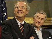Rome Mayor Walter Veltroni (l) and Robert De Niro