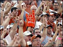 Texas football fans