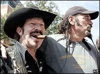 Kinky Friedman with Jesse Ventura