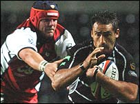 Ospreys centre Sonny Parker scored two tries at a crucial time