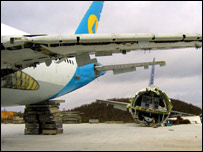 Planes ready to be recycled (BBC)