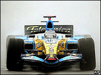 Fernando Alonso's Renault during qualifying for the Chinese Grand Prix