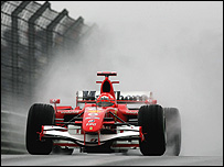 Michael Schumacher's Ferrari at the Chinese Grand Prix