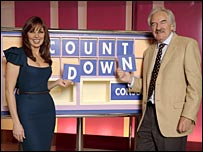 Carol Vorderman and Des Lynam